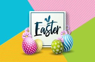 Frohe Ostern Urlaub Design