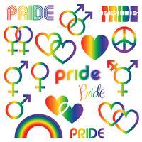 Gay Pride Icons Clipart Grafiken