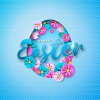 Fröhliche Ostern Urlaub Illustration
