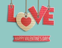 glücklicher Valentinstagentwurf vektor