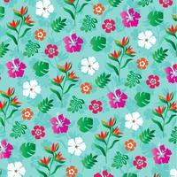 tropische Blumen Hintergrundmuster vektor