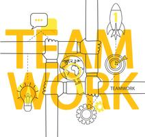 Teamwork koncept infographic.