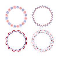 röda vitblå cirkelramar vektor