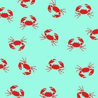 Krabben auf blauem Hintergrund. vektor