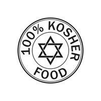 Koscheres Lebensmittel-Symbol. vektor