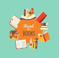 Reihe von Büchern
