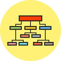 Linie gefülltes Symbol vektor
