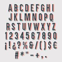 3D typografi isolerad. vektor