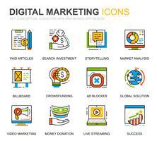 Einfache Business- und Marketingliniensymbole für Website- und Mobile-Apps vektor