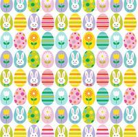 söt påskägg och och kaninbakgrundsmönster
