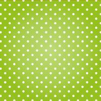 Grön bakgrund med vita prickar.