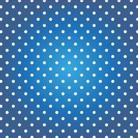 Blå bakgrund med vita prickar.