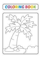 Malbuch, Palmenvektor vektor
