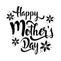 Glücklicher Muttertag, der Whitblumen beschriftet.