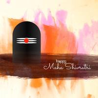 Abstrakt Mahashivratri festival hälsning bakgrund vektor