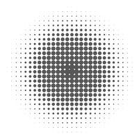 Knall Art Background, schwarze Halbtonpunkte auf weißem Hintergrund. vektor