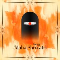 Abstrakt Mahashivratri religiös bakgrund vektor