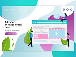 Webseiten-Designvorlage für Webseiten-Design vektor