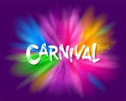 Karneval titel med färgstark explosion