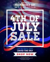 Fyra juli försäljning design vektor