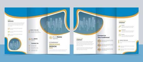 kreative moderne dreifach gefaltete Broschürenvorlage vektor