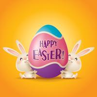Osterhasen und Ei vektor