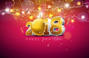 Frohes neues Jahr 2018 Illustration