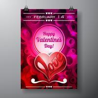 Valentinstag-Abbildung