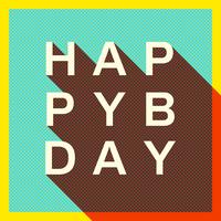 Retro alles Gute zum Geburtstag-Typografie-Karte vektor