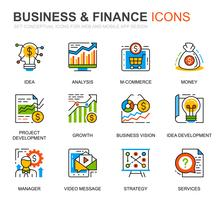 Einfache Set Business und Finance Line Icons für Website und Mobile Apps