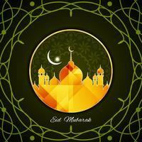 Abstrakter Eid Mubarak Hintergrund vektor