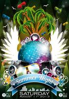 Sommer Nacht Party Design