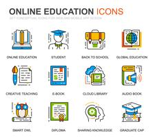 Simple Set Education und Knowledge Line Icons für die Website