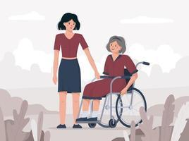 Der dritte Dezember ist Welttag der Behinderten. vektor