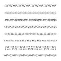 Blomningar kalligrafiska prydnadsföremål och ramar vektor