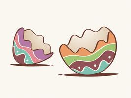Gebrochene Eierschale