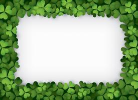 Grün klee grenze vektor