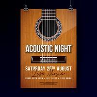 Akustische Nacht Party Flyer Design vektor