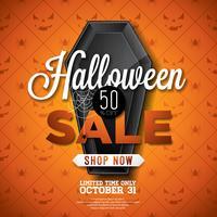Halloween-Verkaufsillustration