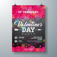 Valentines Day Party Flyer Abbildung