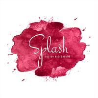 Vacker Färgrik Akvarell Splash Design