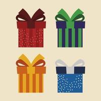 Satz von Symbolen Geschenkboxen präsentieren Überraschungsfeier vektor