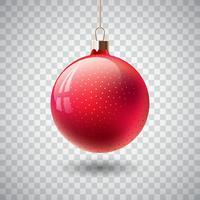 Getrennte rote Weihnachtsverzierung vektor