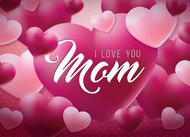 Lycklig mors dag hälsning vektor