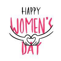 Glad Kvinnodag vektor