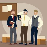 Geschäftsleute, Geschäftsleute Charaktere Arbeitsdokumente Ordner vektor