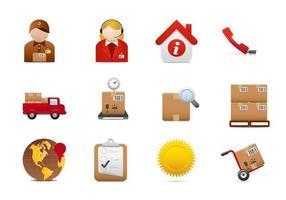 Logistik och leveransvektorpaket