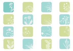 Blumen-Icon-Vektor-Pack
