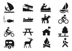 Erholung Icons Vector Pack