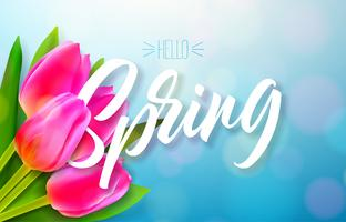 Hallo Frühlingsnaturentwurf